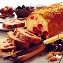 204954C Cherry & Almond Loaf Cake (Sidoli)