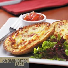 202574C Cheese & Bacon Loaded Skins (Bannisters' Farm)