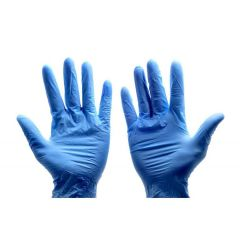 307583S Blue Vinyl Large Powdered Gloves (Safe Touch)