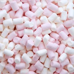 307475S Mini Pink & White Marshmallows
