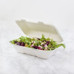 309254S Bagasse Clamshell Large 9 x 6in (Vegware)