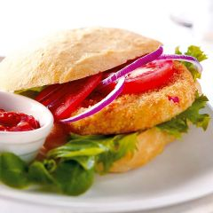 203103C Breaded 1/4lb Vegetable Burger (McCain)