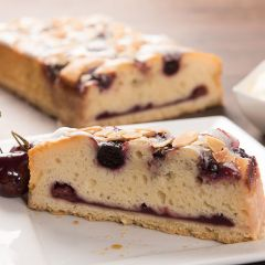 206324C Black Cherry & Almond Fondant Slice (Chantilly)